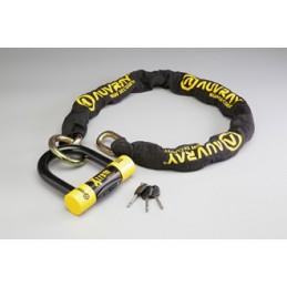 ANTIVOL AUVRAY CHAINE XTREM MEDIUM LASSO D.13,5 L.120cm + Cadenas