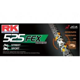 CHAINE RK 525FEX 112 MAILLONS avec Attache à River.