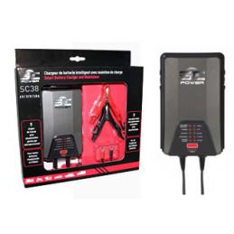 SC3800 Chargeur de batterie Plomb et Lithium 6/12V, 0.8-3.8A.